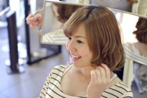 髪質の変化に喜ぶ